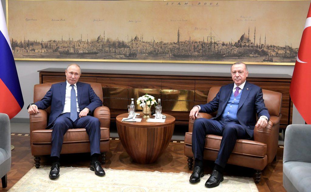 俄羅斯總統普丁訪問土耳其總統艾爾段(圖/克里姆林宮)