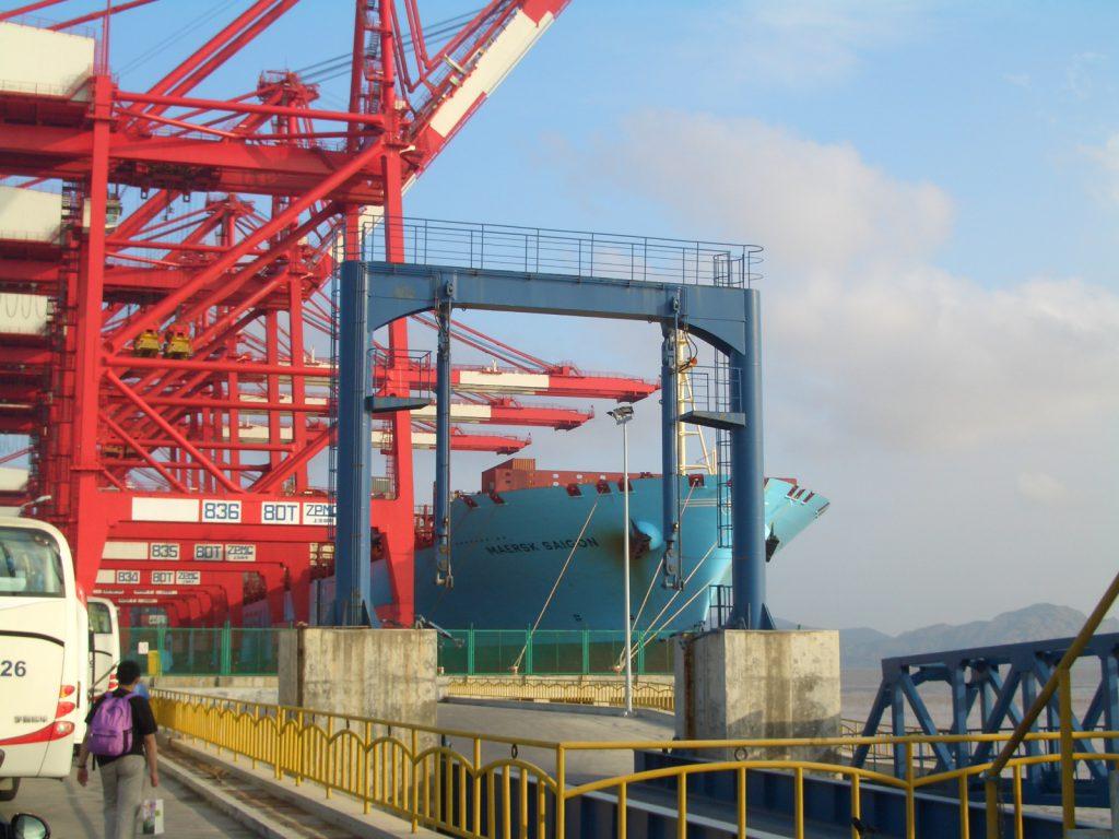 上海洋山深水港(圖/chinaczz/CC BY-SA 3.0)