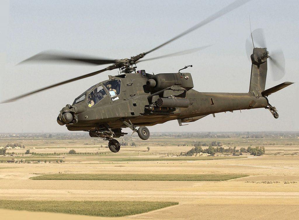 "AH-64D 攻擊直升機(圖/""Photo Courtesy of U.S. Army"" - by Tech. Sgt. Andy Dunaway/public domain)"