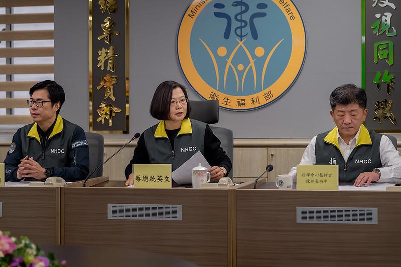 總統強調落實弱勢優先、檢疫優先兩個原則,來接回仍在武漢的鄉親