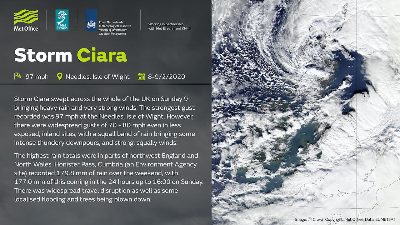 席亞拉暴風來襲 歐洲各國皆傳出災情(圖/英國 Met Office)