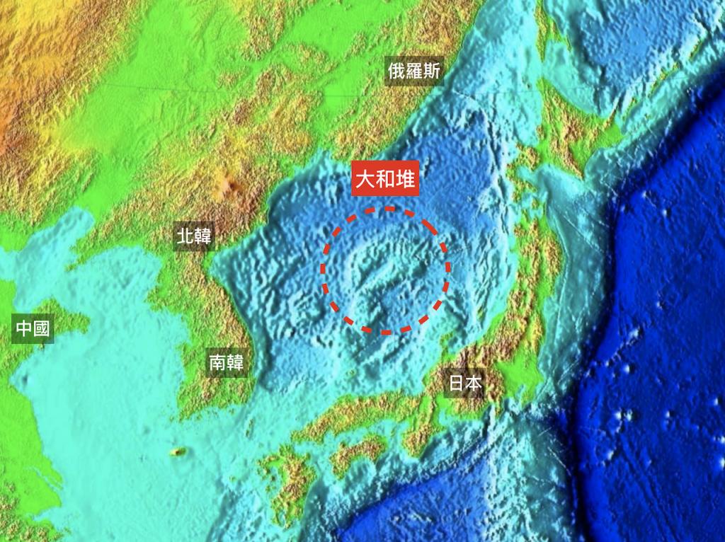 日本海的中央海域地區,日本稱其為「大和堆」