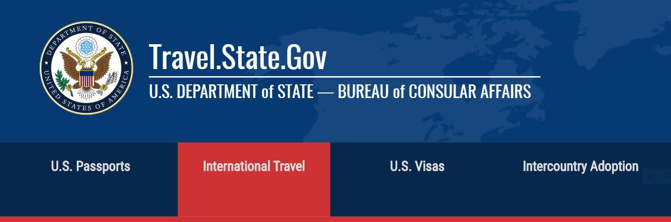 美國國務院針對旅行遭遇緊急事件所頒布的注意事項