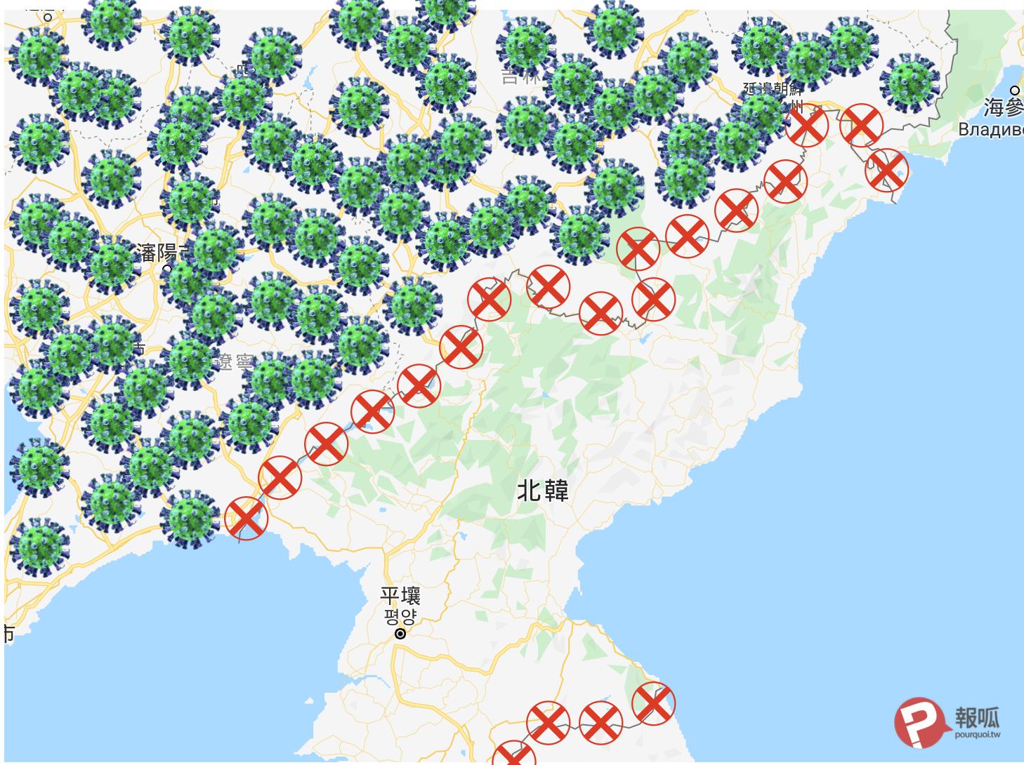 武漢肺炎。朝鮮率先封鎖邊境