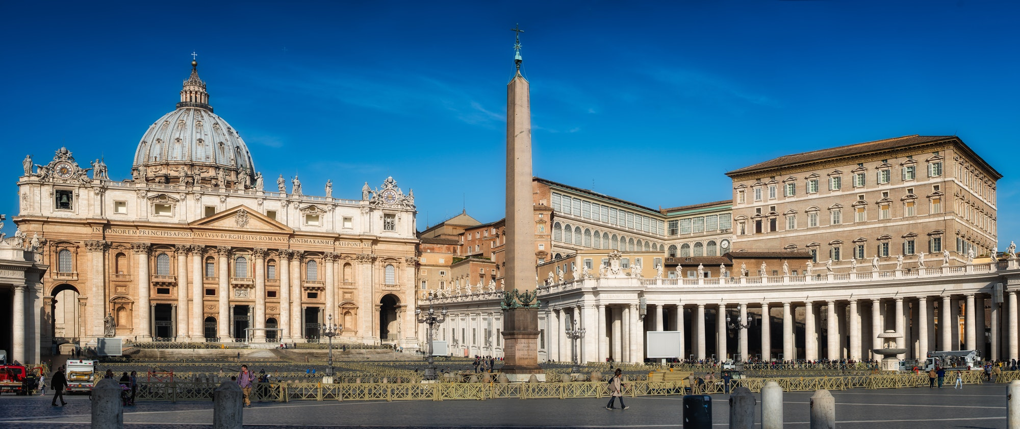 Rome,Iitaly-march 24,2015: Panorama of St. Peter's Square in Rom
