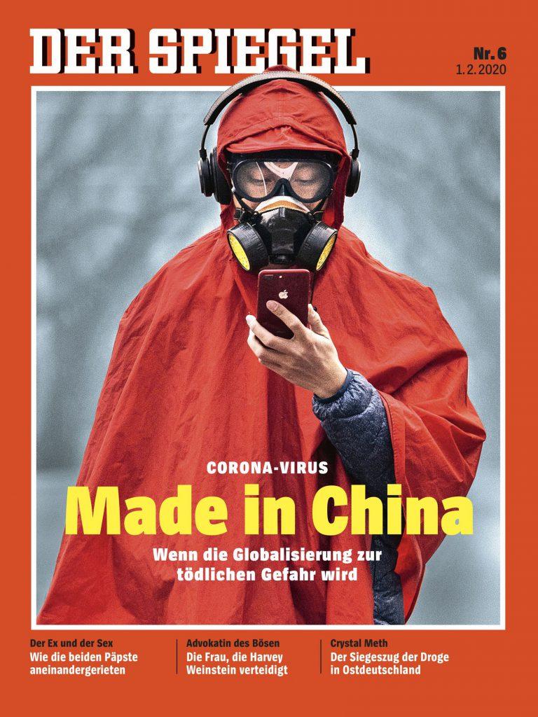 德國《明鏡》封面標題為「Made in China——當全球化成為致命危機」(圖/DER SPIEGEL issue 6/2020 (February 1st, 2020))
