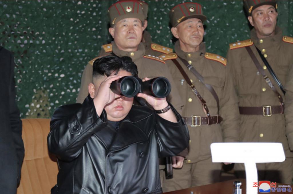 朝鮮金正恩忙發射飛彈(圖/朝鮮中央通訊社)