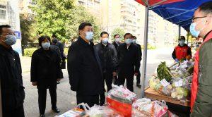 習近平在武漢視察疫情(圖/中國政府官網)