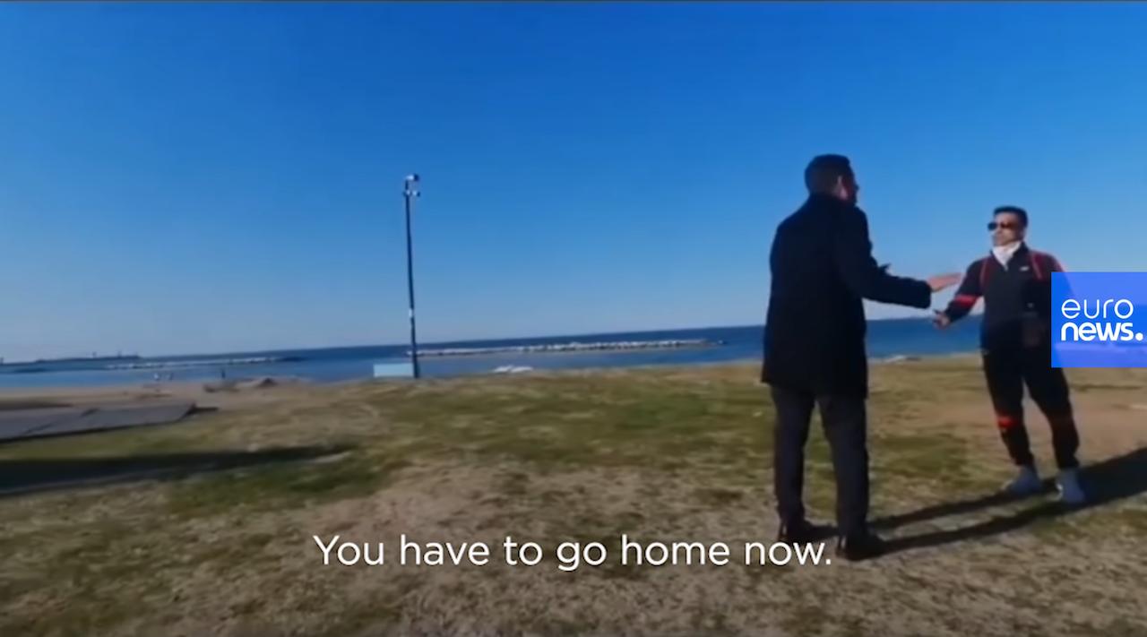 義大利市長要求民眾在家(截圖自Euronews)