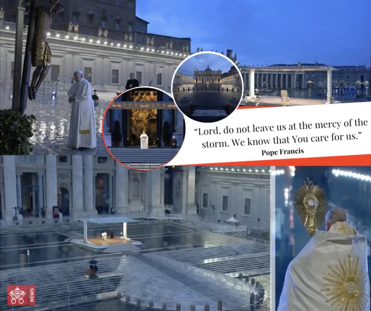 教宗《致全城與全球》降福並特赦(圖/Vatican News 截圖)