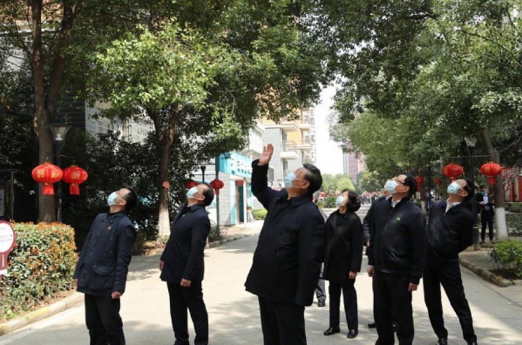 習近平在武漢視察疫情(圖/吉林省紀委)