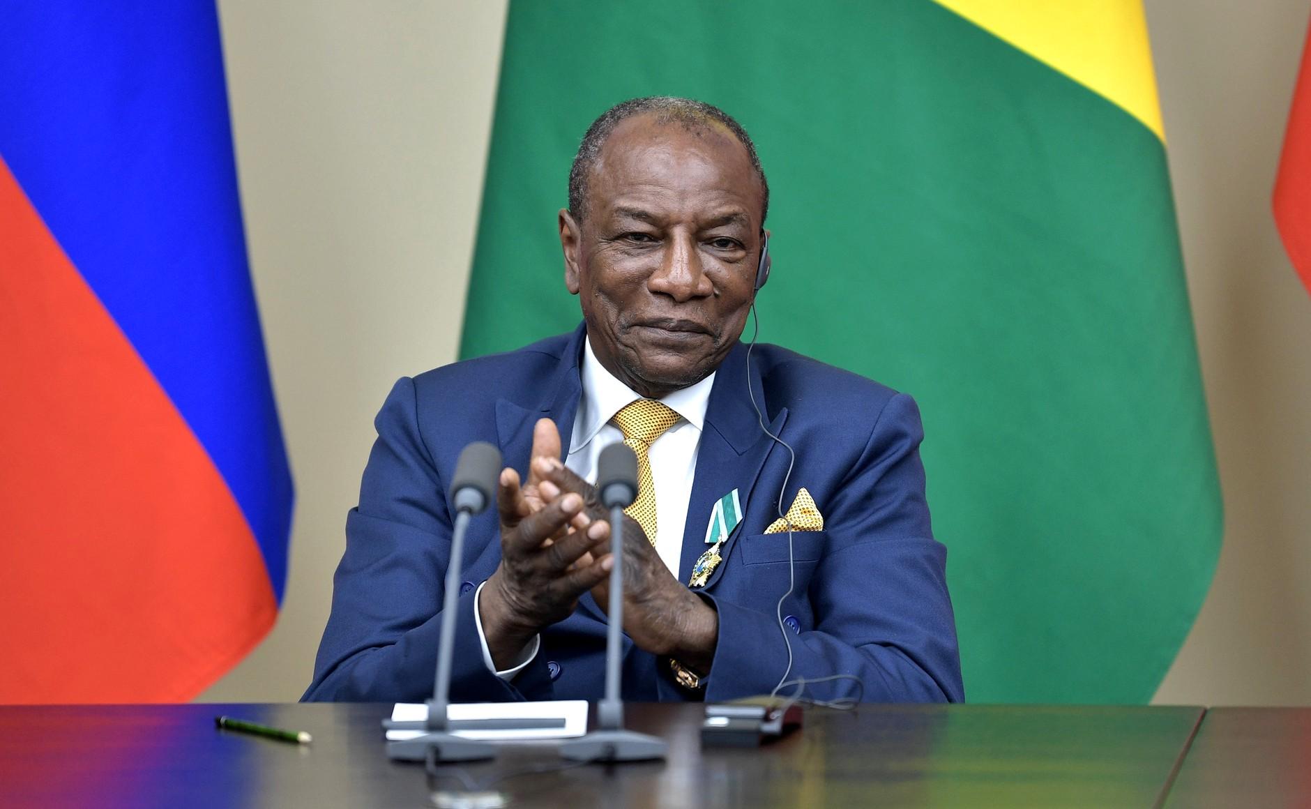 幾內亞總統顧德(Alpha Condé)(圖/俄羅斯總統辦公室)