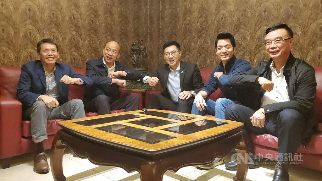 國民黨主席江啟臣南下與韓國瑜閉門會談,呼籲高雄市民力挺韓市長。