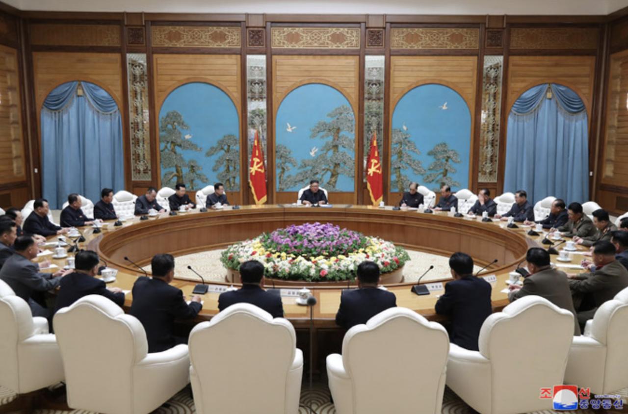 朝鮮中央政治局會議_01(圖/朝鮮中央通信)