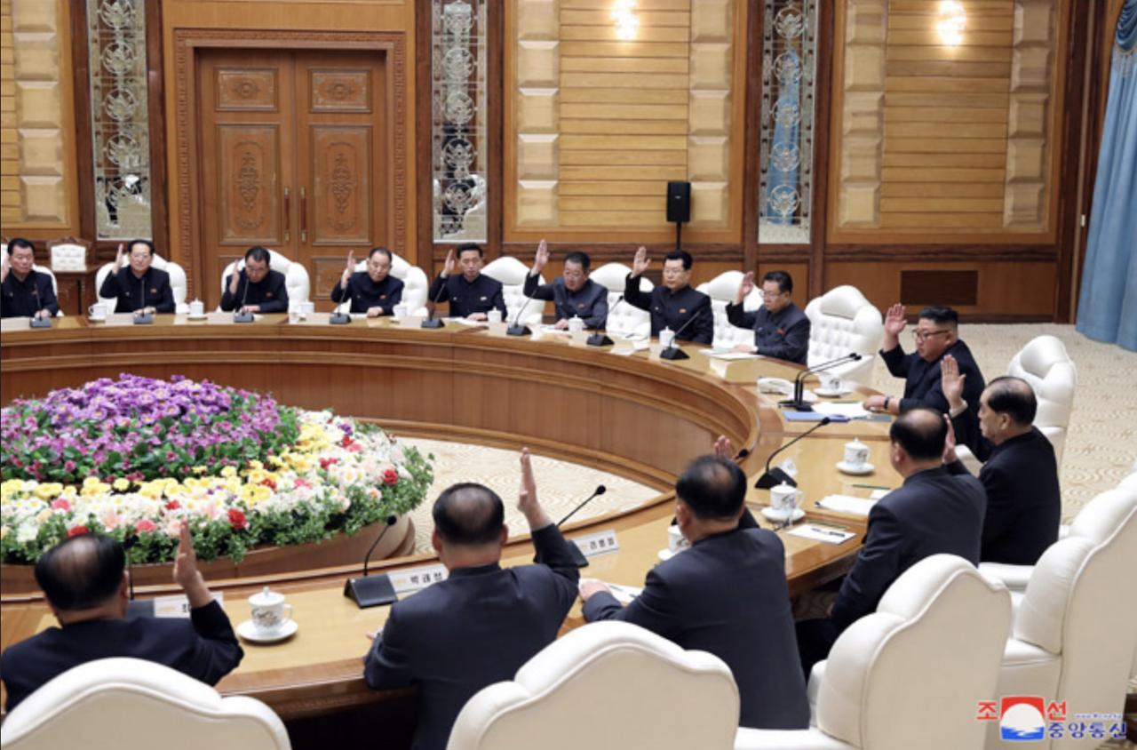 朝鮮中央政治局會議_02(圖/朝鮮中央通信)