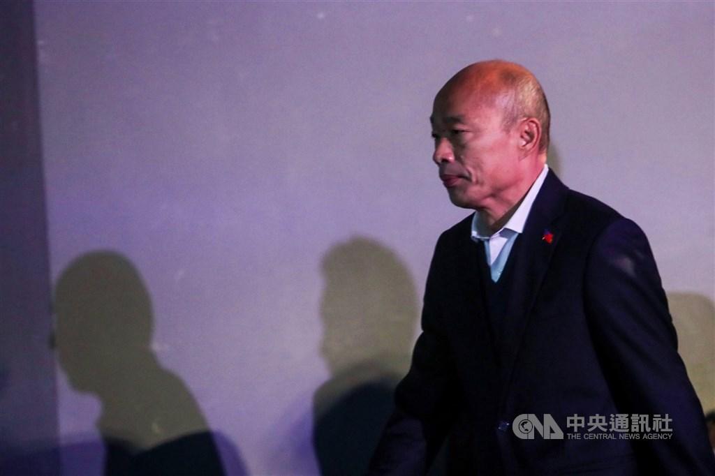 高雄市長韓國瑜(圖)認為罷韓案偷跑,日前向台北高等行政法院聲請停止執行。北高行17日裁定「聲請駁回」。