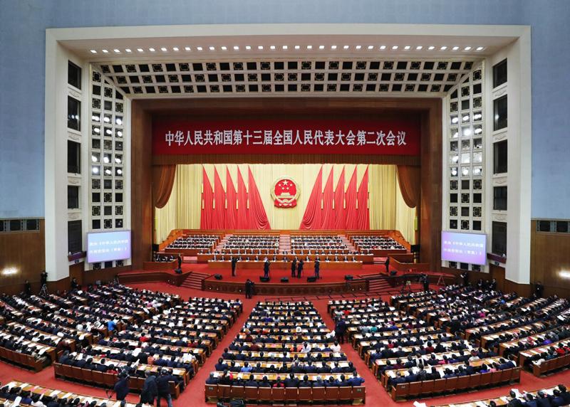 第十三屆全國人民代表大會第二次會議(圖/中國人民政府)