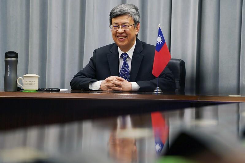 陳建仁副總統以線上會議方式分享台灣防疫經驗
