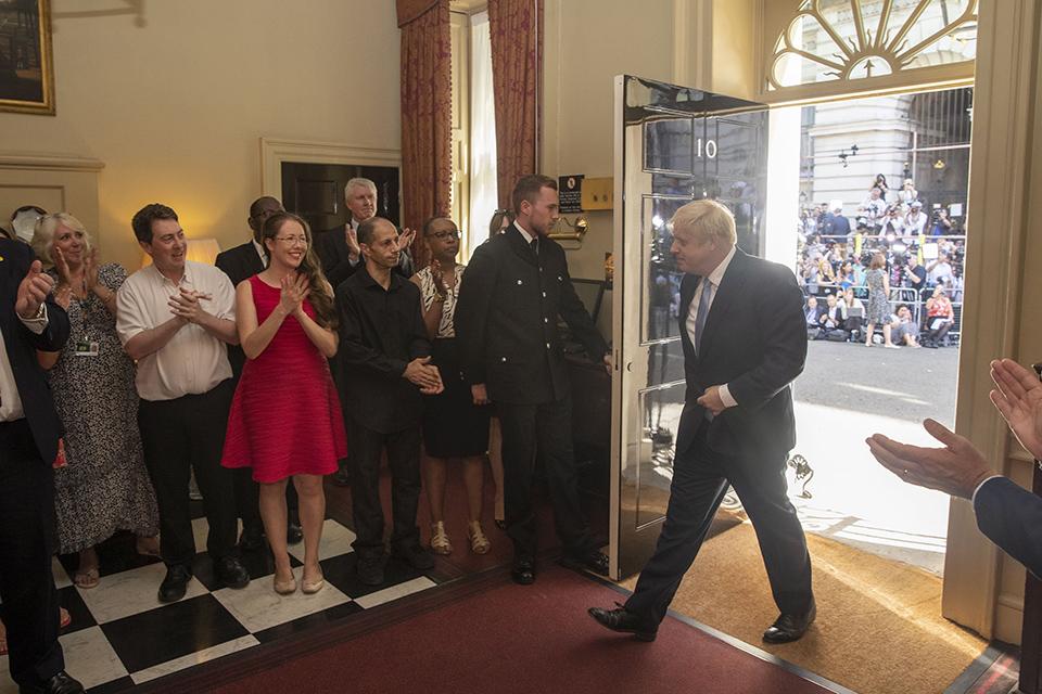 強森 2019年7月首次首相演講(圖/英國政府)