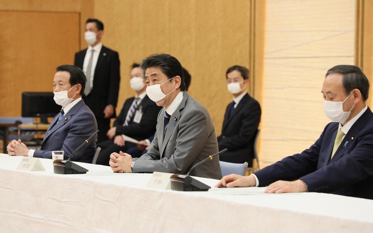 日相安倍晉三宣布日本特定地區實施一個月期間的「緊急事態」(圖/首相官邸)