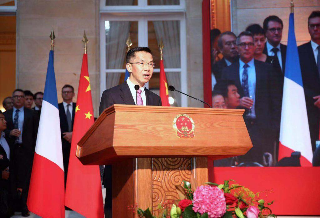 中國駐法大使盧沙野(圖/中國外交部)