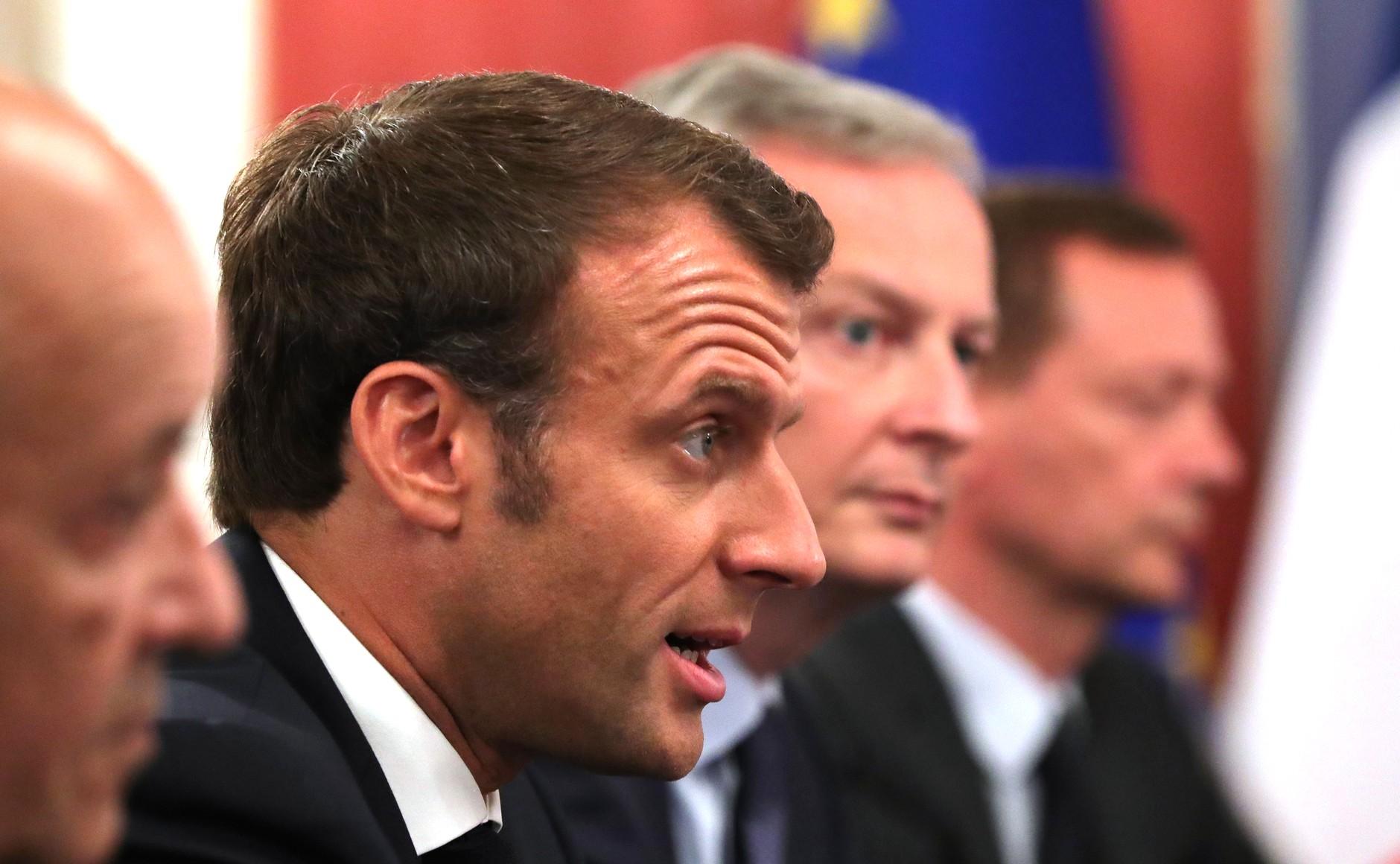 法國總統馬克宏(圖/俄羅斯總統辦公室)