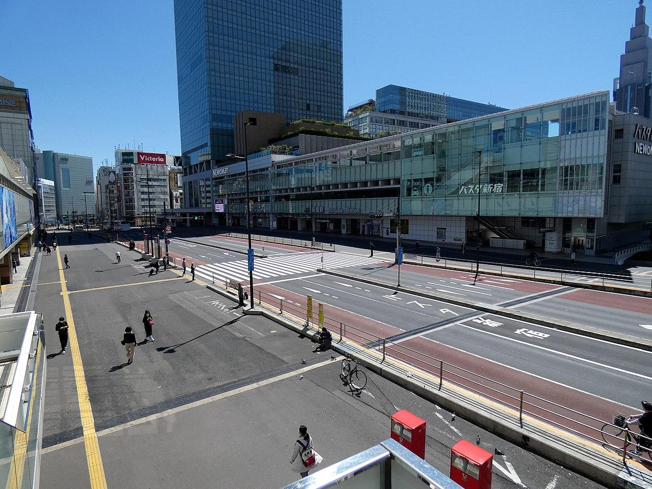 武漢肺炎、新宿巴士站(圖/Asanagi/CC0 1.0)