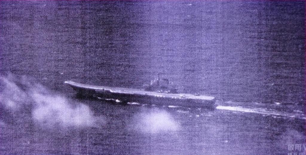 國軍4月24日首度公布中國遼寧號航母監控照(圖/國防部)