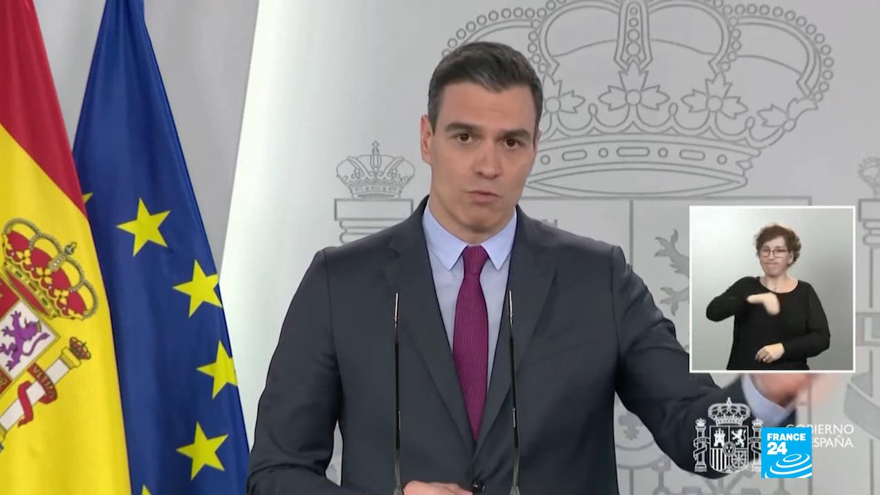 西班牙總理桑切斯(Pedro Sanchez)(圖/擷自France24新聞)
