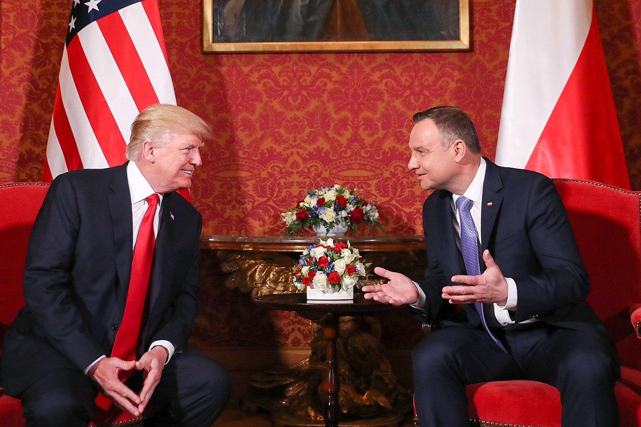 波蘭總統杜達(Andrzej Duda)和美國總統川普(圖/Krzysztof Sitkowski/CC BY-SA 4.0)