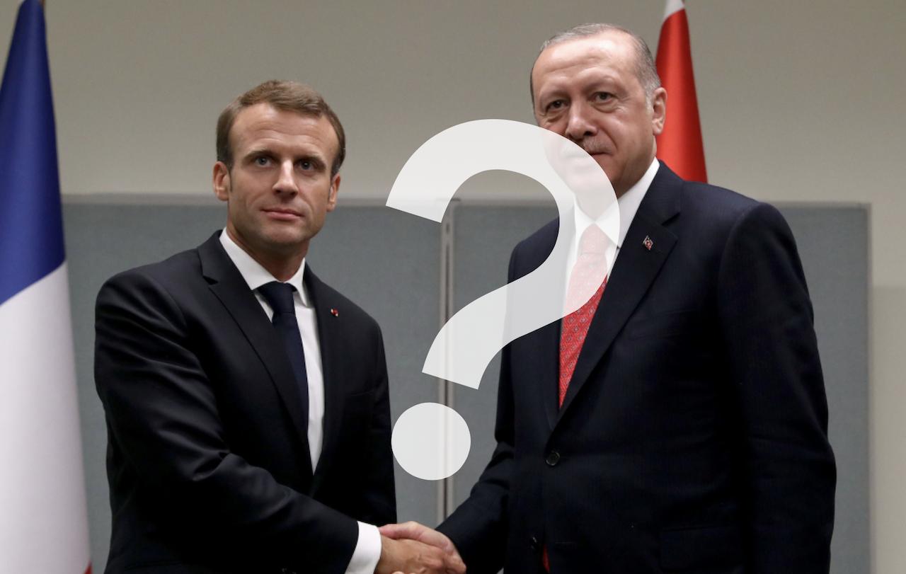 土耳其艾爾段 Erdoğan、法國馬克宏 Macron(圖/土耳其總統辦公室/報呱再製)