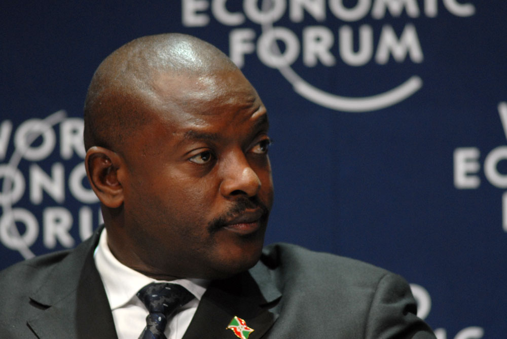 蒲隆地總統恩庫倫齊薩(Pierre Nkurunziza)(圖/World Economic Forum : CC BY-SA 2.0)