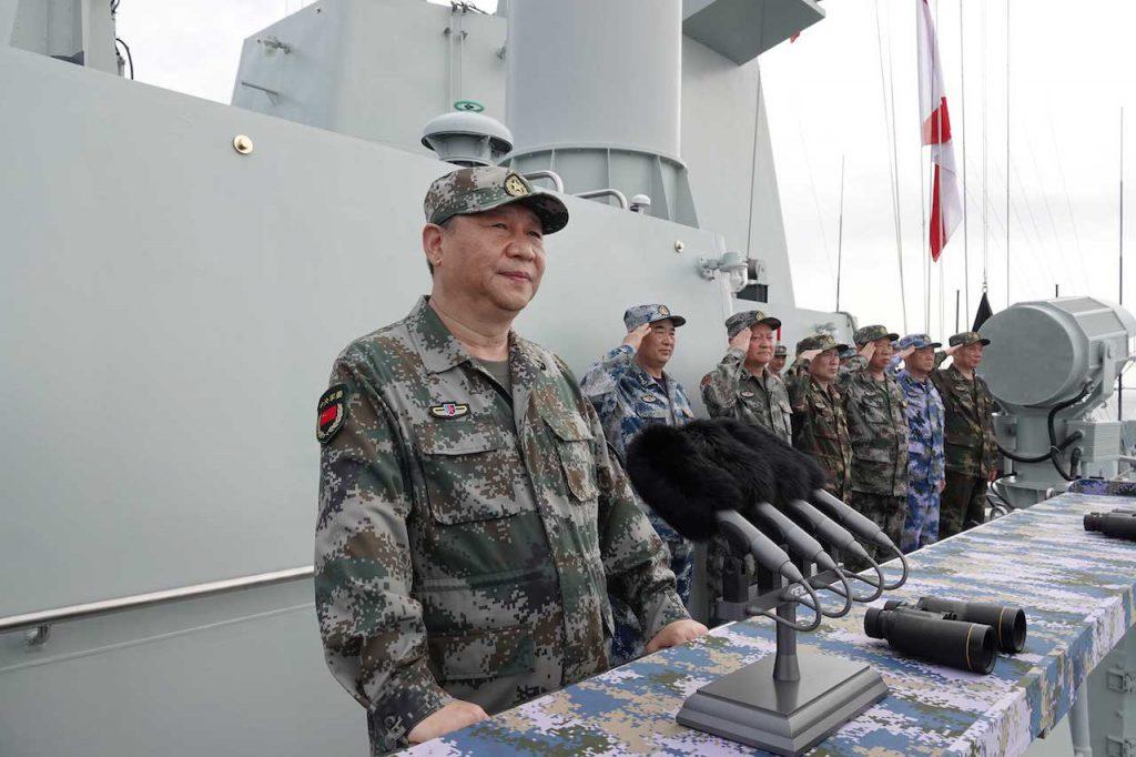 習近平、解放軍南中國海軍演(圖/中國國防部)