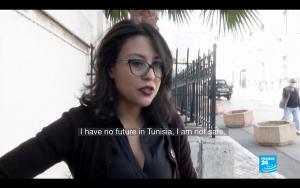 突尼西亞夏姬(Emna Chargui)(圖/France24 youtube)
