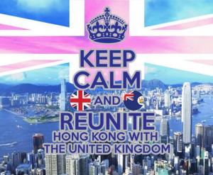 英國、香港(圖/香港歸英運動 Hong Kong-UK Reunification Campaign 臉書)