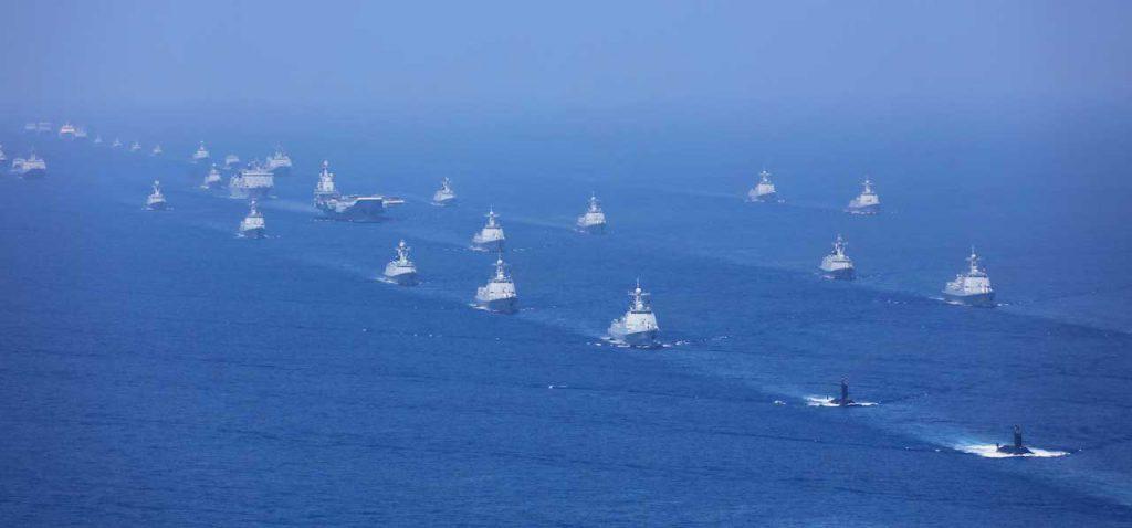 解放軍南中國海軍演(圖/中國國防部)