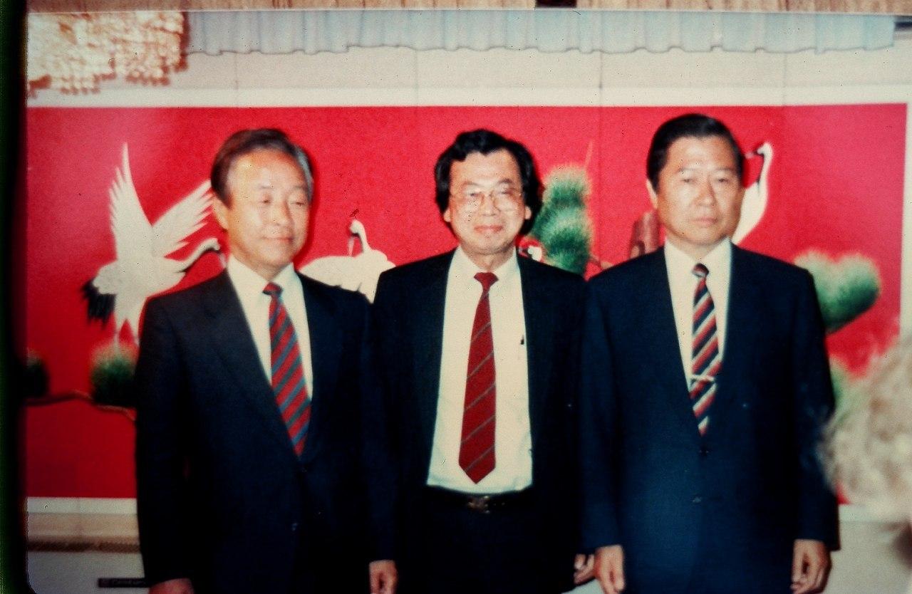 金泳三(左)、張燦鍙(中)、金大中(右)