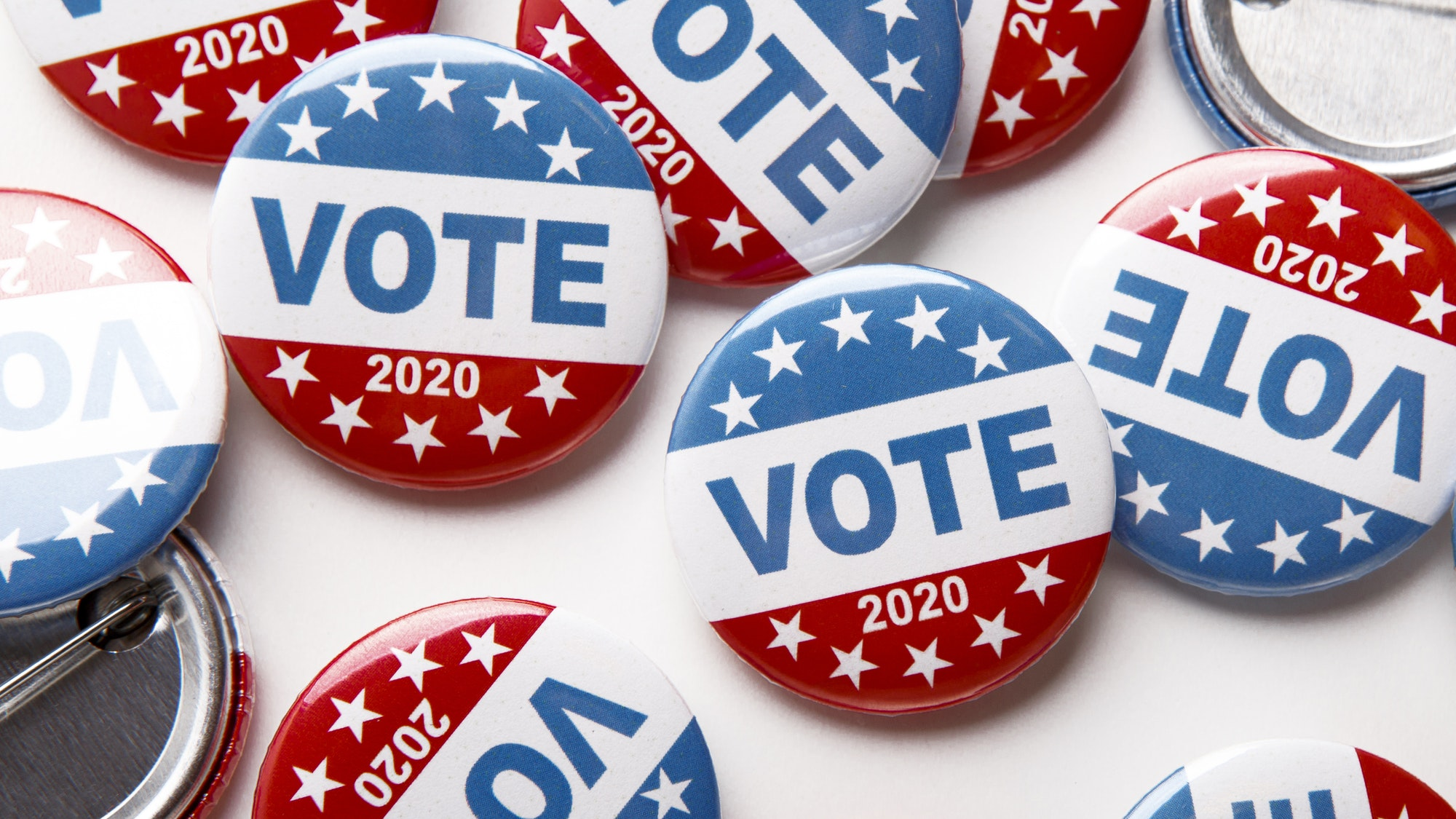 United States of America president voting 2020. Election voting buttons