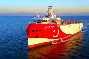 土耳其在東地中海的鑽探船(圖/Turkish Embassy DC推特)