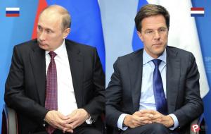 荷蘭總理呂特(Mark Rutte)、俄羅斯總統蒲亭(圖/俄羅斯克里姆林宮/報呱再製)