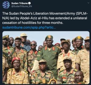 北蘇丹人民解放運動(SPLM-N)(圖/Sudan Tribune 推特)