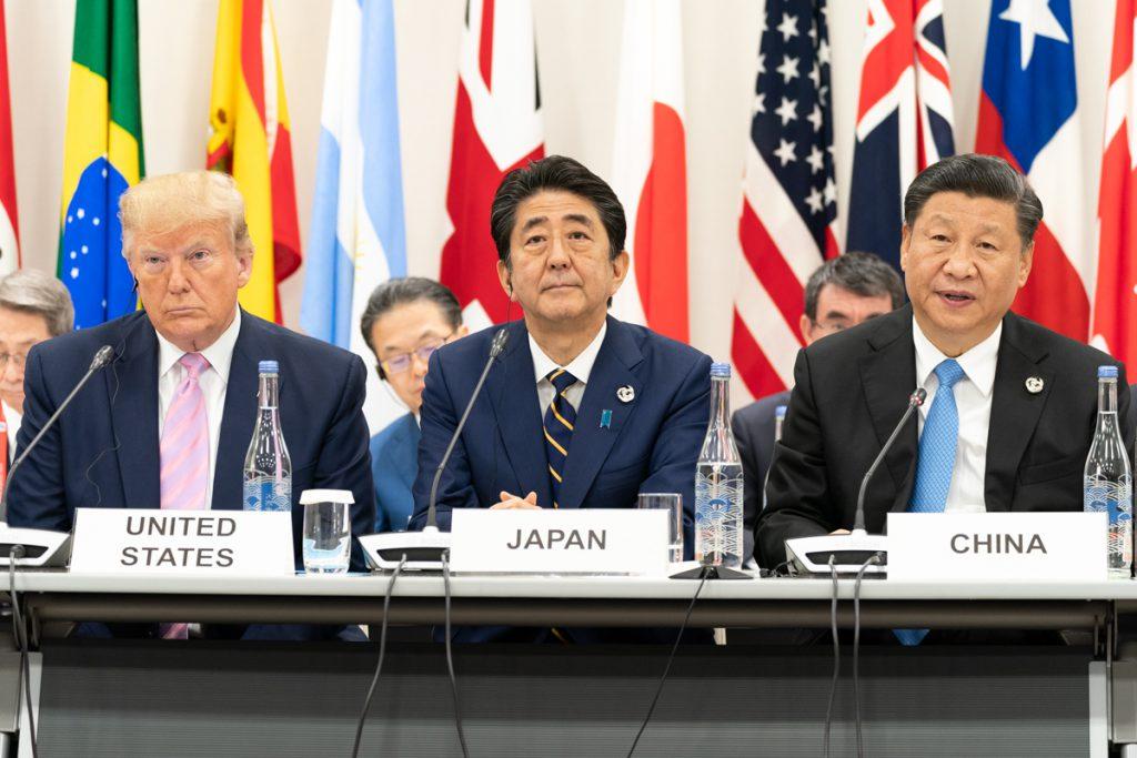 川普、習近平、安倍晉三、G20(圖/The White House/公共網域)
