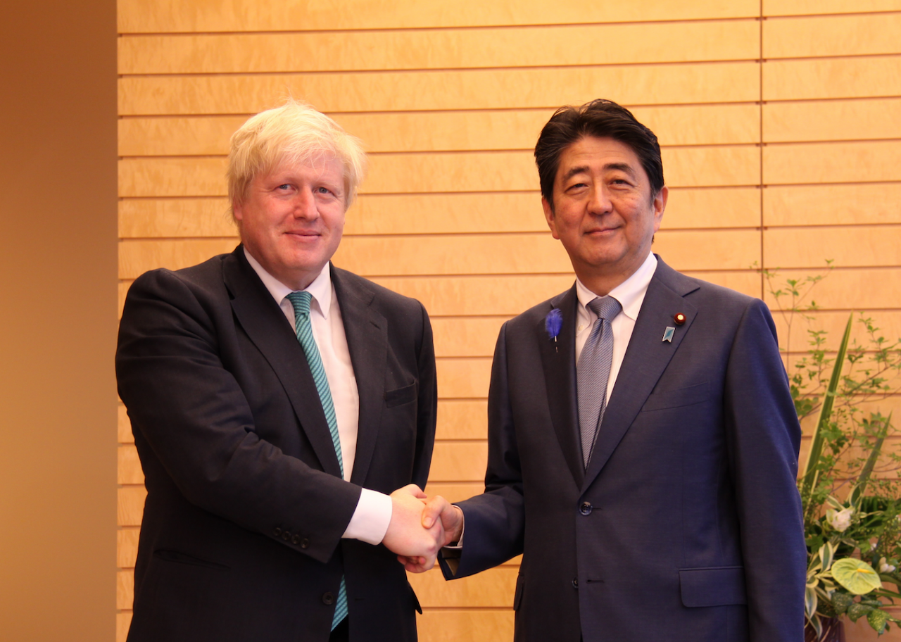 Abe Johnson uk Japan 安倍、強森、英國、日本(UK in Japan- FCO/CC BY 2.0)