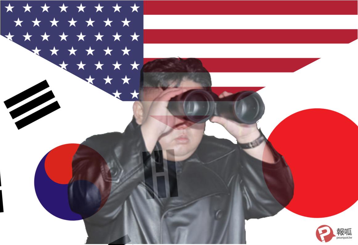 美國、日本、韓國、朝鮮、金正恩(圖/報呱再製)