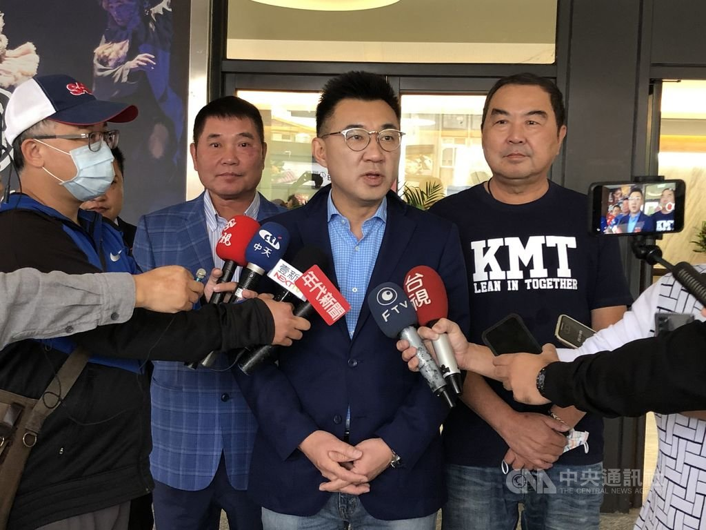 中國國民黨認為,民進黨才是罔顧豬農的始作俑者。圖為黨主席江啟臣。