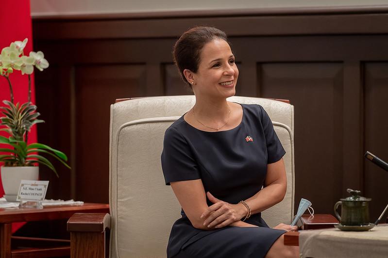 總統接見「海地共和國駐臺大使庫珀」