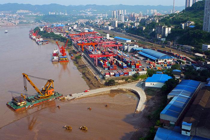 chongqing-jiulong-port-container-terminal重慶九龍坡貨櫃碼頭(圖/李文勇/世界銀行)