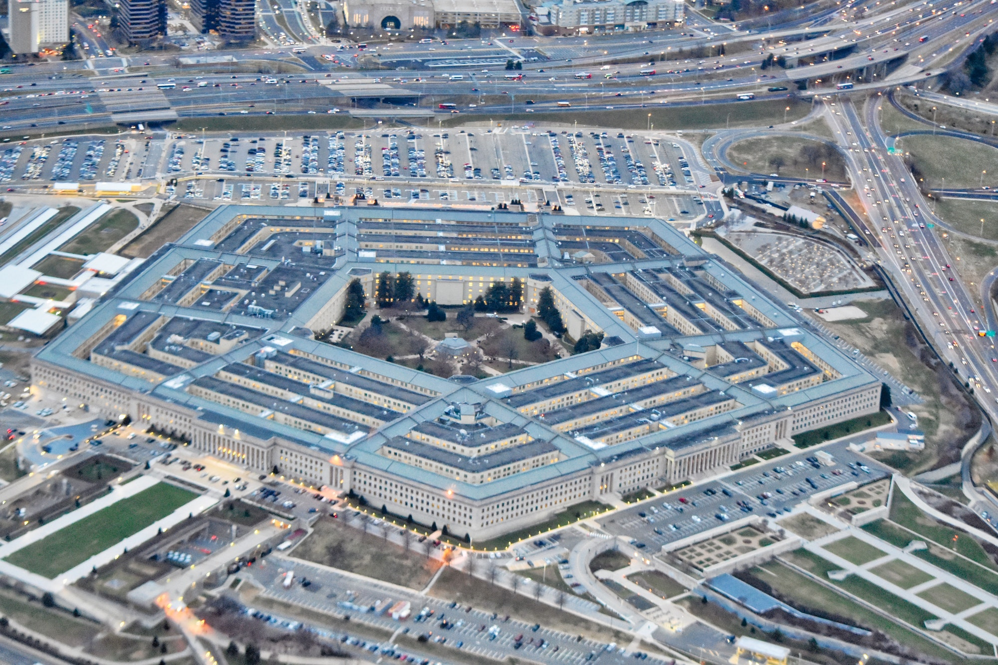The pentagon in Washington DC
