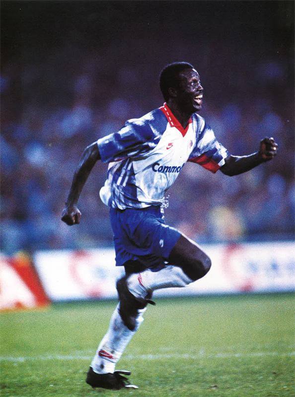 Coppa UEFA 1992-93 - Napoli vs PSG - George Weah(圖/公共領域)