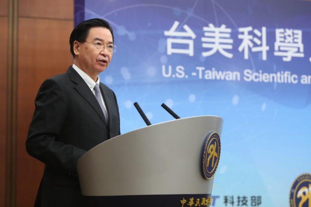 外交部長吳釗燮於《台美科學及技術合作協定》宣布茶會致詞。